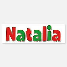 Natalia Christmas Bumper Bumper Bumper Sticker