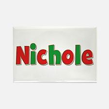 Nichole Christmas Rectangle Magnet