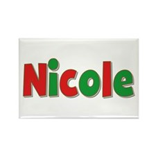 Nicole Christmas Rectangle Magnet