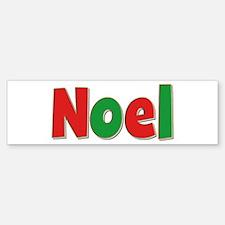 Noel Christmas Bumper Bumper Bumper Sticker