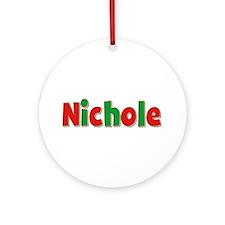 Nichole Christmas Round Ornament