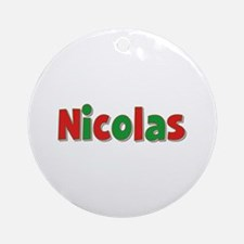 Nicolas Christmas Round Ornament