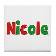 Nicole Christmas Tile Coaster