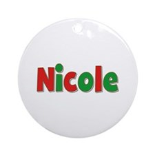 Nicole Christmas Round Ornament