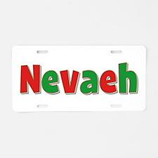 Nevaeh Christmas Aluminum License Plate