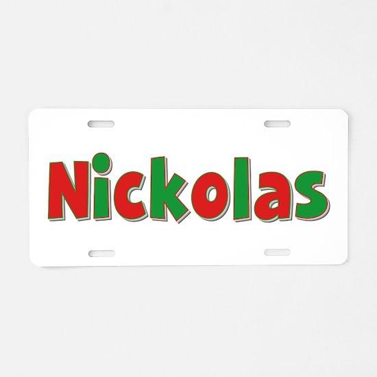 Nickolas Christmas Aluminum License Plate