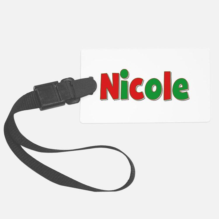 Nicole Christmas Luggage Tag