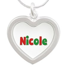 Nicole Christmas Silver Heart Necklace