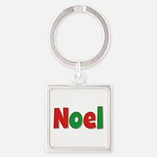 Noel Christmas Square Keychain