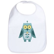 Owl Robot Bib