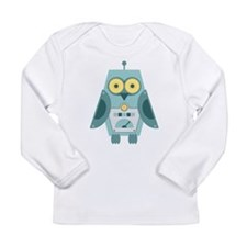 Owl Robot Long Sleeve Infant T-Shirt
