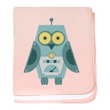 Owl Robot baby blanket