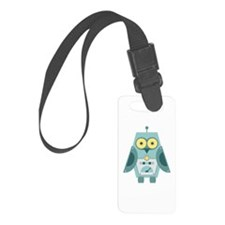Owl Robot Luggage Tag