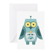 Owl Robot Greeting Cards (Pk of 10)