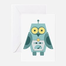 Owl Robot Greeting Cards (Pk of 10)