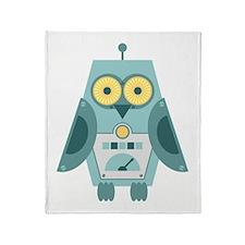 Owl Robot Throw Blanket