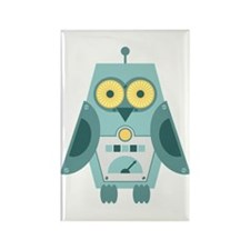 Owl Robot Rectangle Magnet
