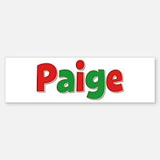 Paige Christmas Bumper Bumper Bumper Sticker
