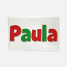 Paula Christmas Rectangle Magnet