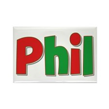 Phil Christmas Rectangle Magnet