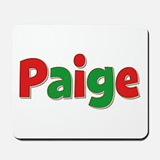 Paige Christmas Mousepad