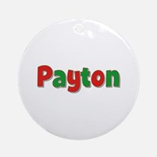 Payton Christmas Round Ornament
