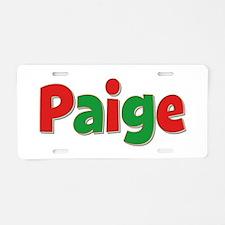 Paige Christmas Aluminum License Plate