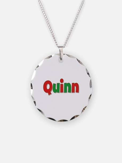 Quinn Christmas Necklace Circle Charm