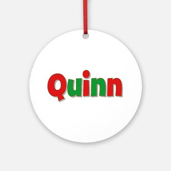 Quinn Christmas Round Ornament