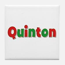 Quinton Christmas Tile Coaster