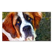 St Bernard Dog Photo Painting Decal