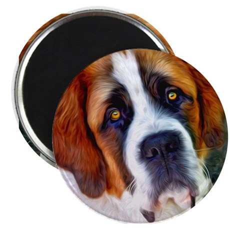 St Bernard Dog Photo Painting Magnet