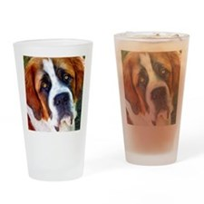 St Bernard Dog Photo Painting Drinking Glass