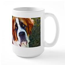 St Bernard Dog Photo Painting Mug