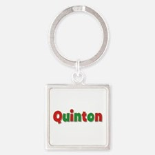 Quinton Christmas Square Keychain