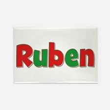 Ruben Christmas Rectangle Magnet