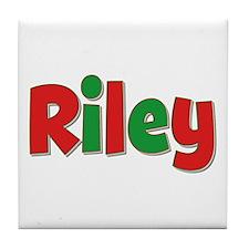 Riley Christmas Tile Coaster