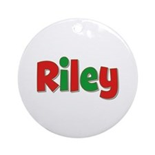 Riley Christmas Round Ornament