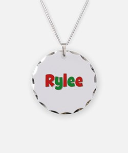Rylee Christmas Necklace Circle Charm