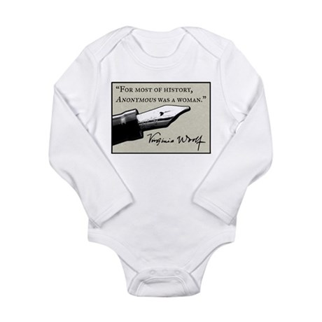 Anonymous Was a Woman Long Sleeve Infant Bodysuit