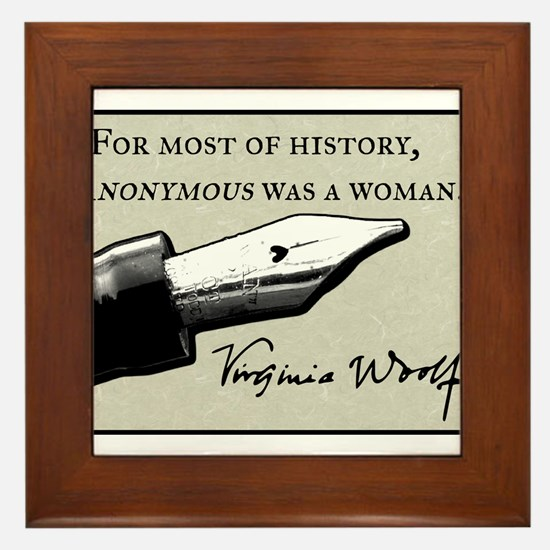 Anonymous Was a Woman Framed Tile