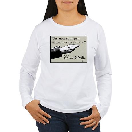 Anonymous Was a Woman Women's Long Sleeve T-Shirt