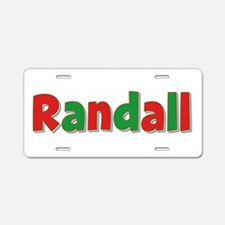 Randall Christmas Aluminum License Plate