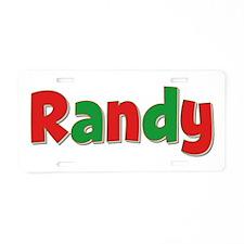 Randy Christmas Aluminum License Plate