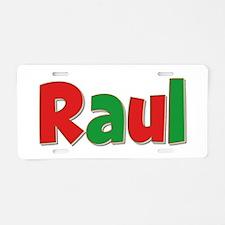 Raul Christmas Aluminum License Plate
