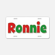 Ronnie Christmas Aluminum License Plate