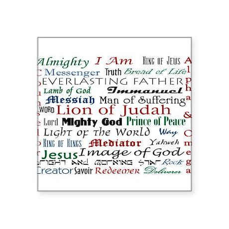 Names of Jesus Oval Sticker