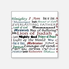 Names of Jesus Oval Sticker