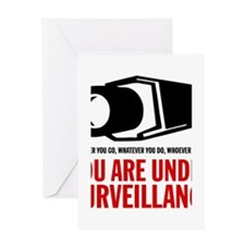 You Are Under Surveillance e1 Greeting Card