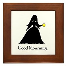 GoodMourning1 Framed Tile